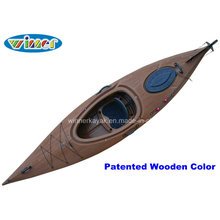 3.44mtrs Imatation of Wood-Drain Deck Single Touring Kayak